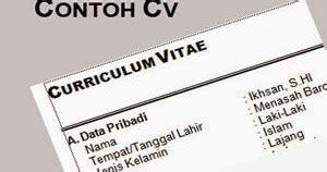 Contoh Curriculum Vitae Rumah Sakit